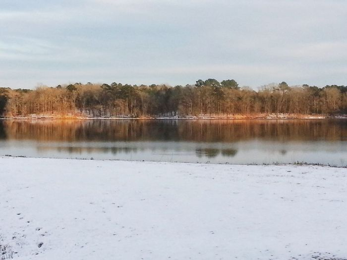 Showcase: February Rare Snow Mississippi Lake Copiah Snow And Trees Lake And Water Reflection Reflections Water my home town Cloud Photography Nature Photography Water Photography Landscapes With WhiteWall Here Belongs To Me