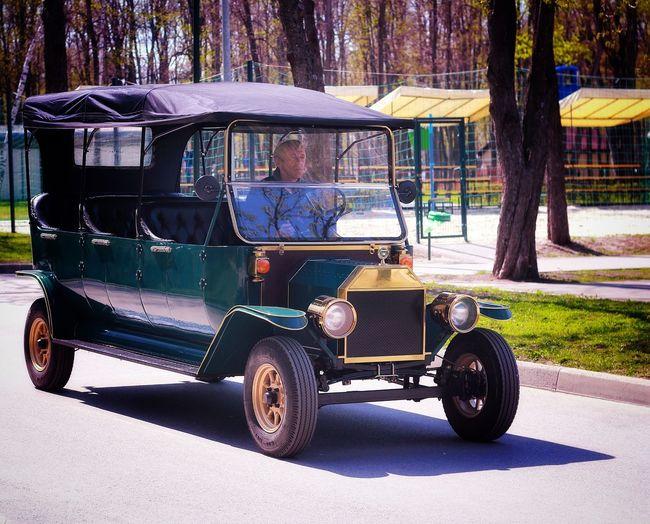Ukrainian Tesla) Eco Transport Electrocar Parklife EyeEm Selects Eyeemphotography Tree Land Vehicle Vehicle Taxi Mode Of Transport