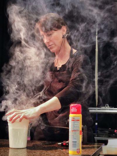 Top Chef contestant Chef Katie Weinner smokes ingredients for her best gnocchi recipe demo. Cookingdemo Chef TopChef Food