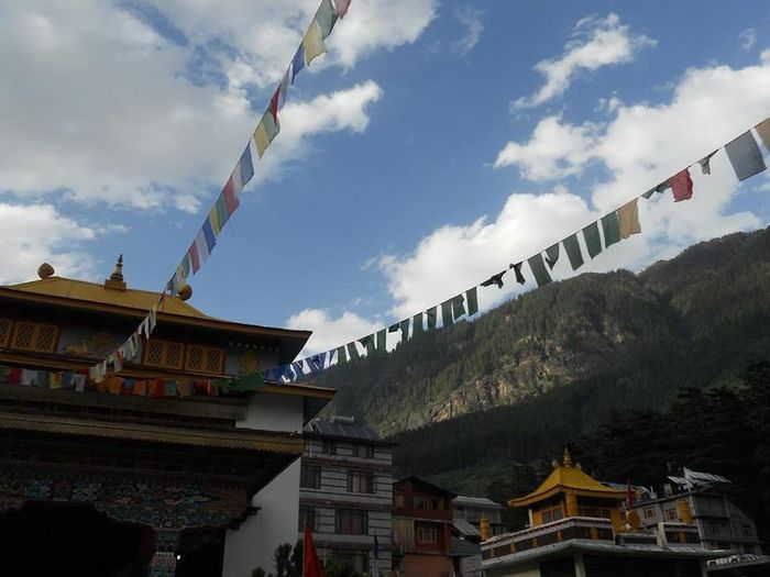 Buddhist Temple Buddhism Buddhist Monestry India Incredible India Noaffect Peaceful Mountains Mountainview Blue Sky Clouds