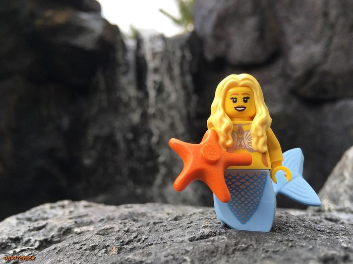 """We live in a Wonderful World that is full of Beauty, Charm, and Adventure. There is no end to the adventures that we can have if only we Seek them with our Eyes open."" 👀 Lego #Mermaid Hawaii Koolina Waterfall Toyphotography Legophotography"