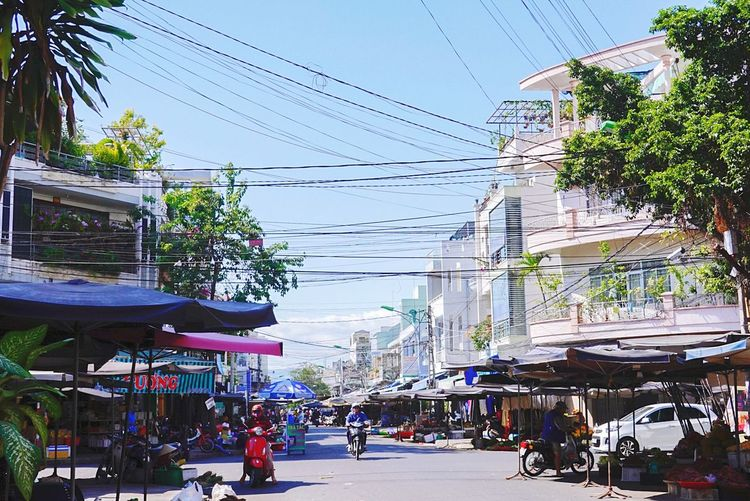 Nha Strang Vietnam Tree City Telephone Line Awning Cable Sky Architecture Building Exterior Built Structure