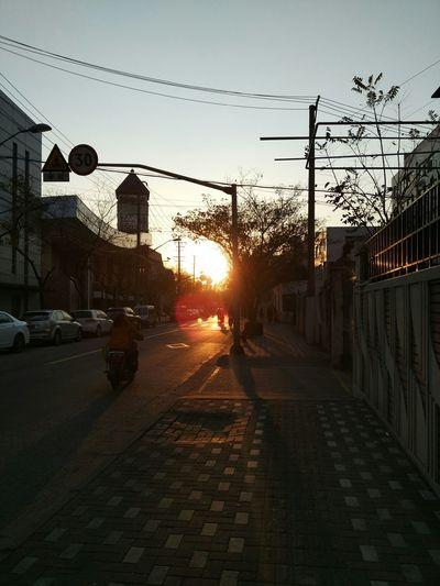 Wintertime sunset上海初冬
