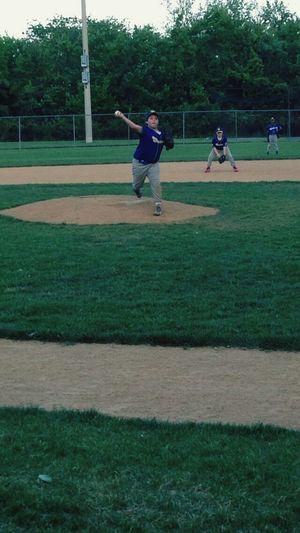 Alexzander Khalek on the mound. Pitching First Eyeem Photo