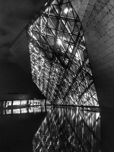 Water Reflection Architecture Reflection Building Wall - Building Feature Water Reflections Water_collection Structure Architecture_collection Construction Night Lights Night Night View Citynight Reflection_collection Amazing Architecture Architecture_bw Black & White B&W Collection EyeEm Best Shots - Black + White Black And White Photography Built Structure Learn & Shoot: After Dark
