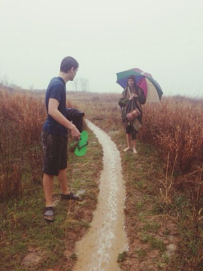 Enjoying a 'hike' under the rain Getting In Touch Walking Around Relaxing Hiking Trail