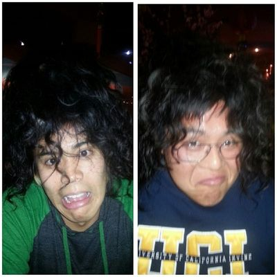 Look at their new hairstyle!!!!! Curly hair!! @betarichjon @wictor_wictor