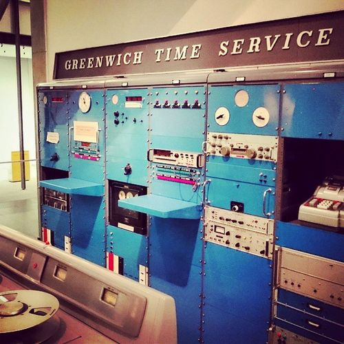 The GreenwichTimeServiceMachine at the ScienceMuseum London Museum Greenwich Time Retro