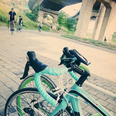 오랜만에 아침 라이딩 Riding 자전거 bicycle 한강 청담대교 비앙키 bianchi 알톤 alton 날씨 짱 좋다:D
