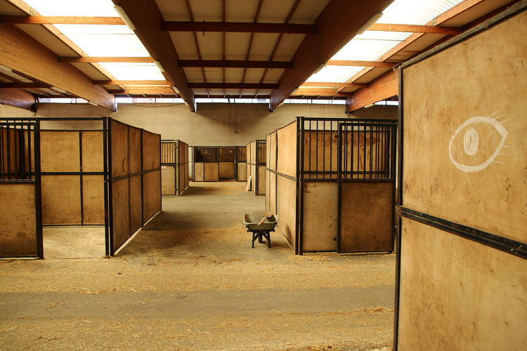 Interior Of Stable
