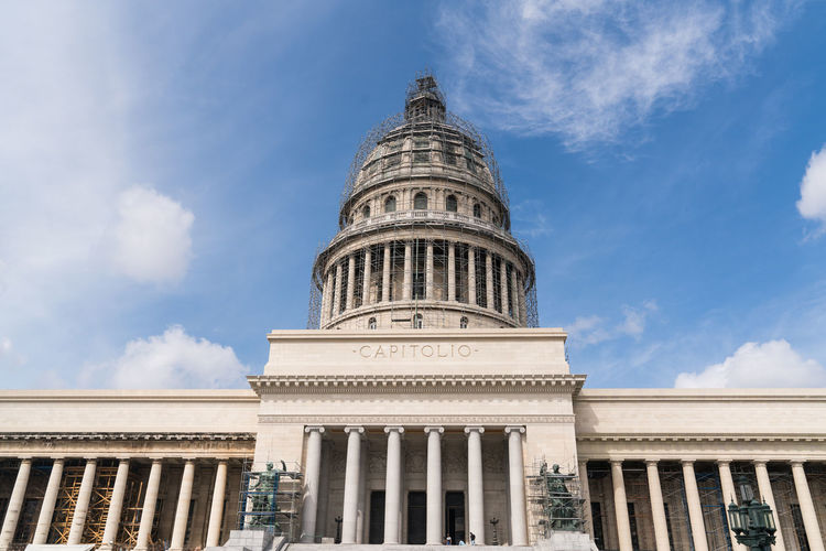 Capitolio, Havana, Cuba Architecture Blue Sky Capital Capitolio Caribbean Classic Clouds Columns Cuba Havana Havana Cuba Sky Statue