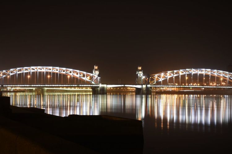 Night Illuminated Water Architecture Sky Bridge Built Structure City No People River Outdoors Travel Destinations Waterfront