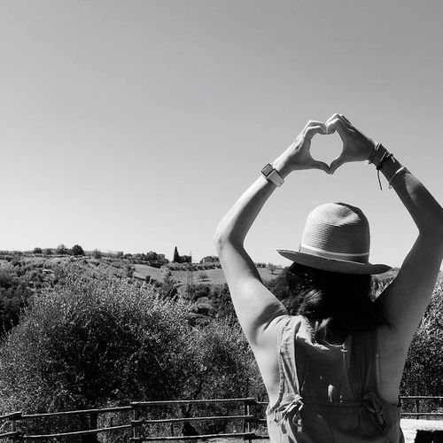One Person Outdoors Nature Clear Sky Italy Tuscany Love Missing This Place See You Next Year Italy Bella Italia Black And White