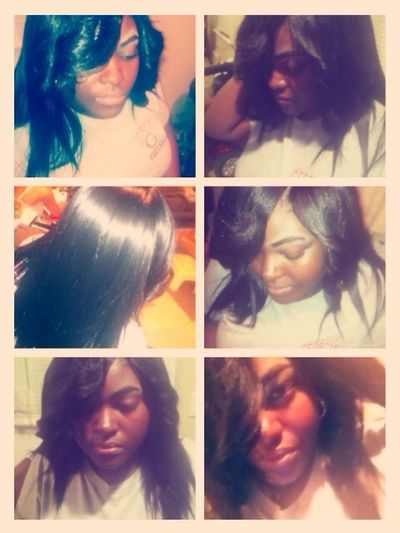 Did my lil cousin Brena hair cut & styled ^_^