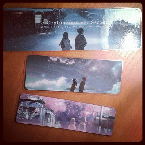 Finished my new bookmarks ♥ 5 centimeters per second ♡ Bookmark 5cmpersecond Anime Love book