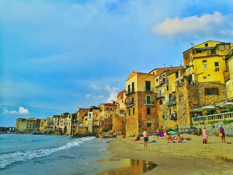 Cefalu  Sicily, Italy Golden Moments  Love This Place Colors Golden Moment Goldlight Travel Destinations Lovethisview Sea And Sky Sea Life