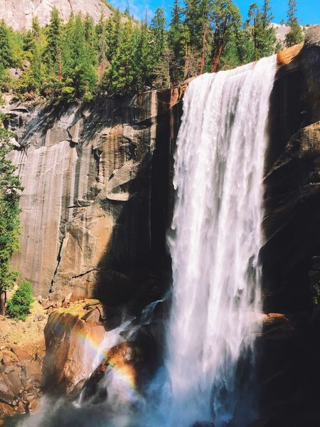 Verbal Falls as seen from the misty steps leading up to the fall Hiking Vscocam Nature IPhoneography Spring Travel Holiday Waterfall Yosemite Landscape