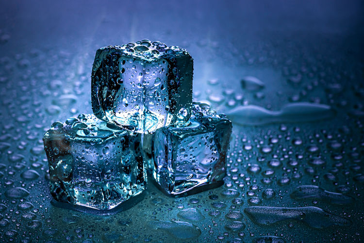 Ice cubes and