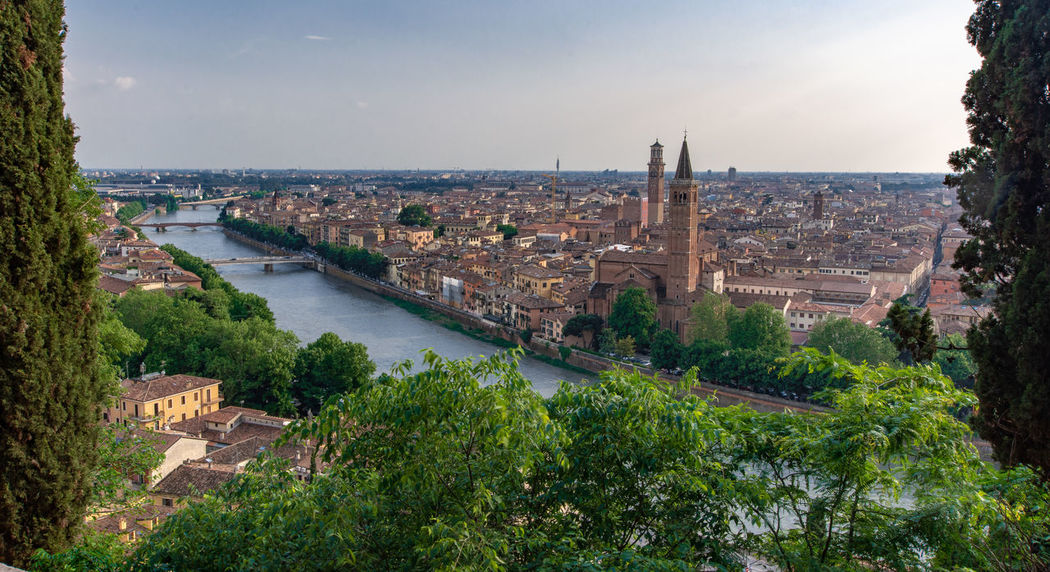 Verona from up above ... Verona Building City Cityscape Etsch From Up Above High Angle View History Italy Nature No People Outdoors Plant River Sky The Past Tourism Travel Travel Destinations Tree Water