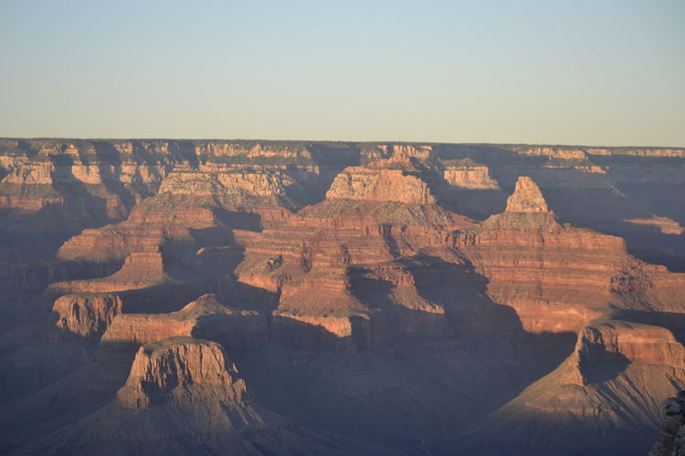 High Angle View Of Canyon National Park Against Clear Sky