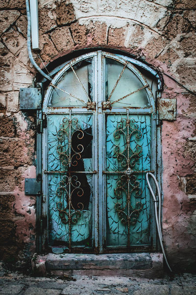 Abandoned Places Weathered Architecture Building Exterior Built Structure Closed Damaged Day Door Entrance Israel No People Old Outdoors Tel Aviv Window