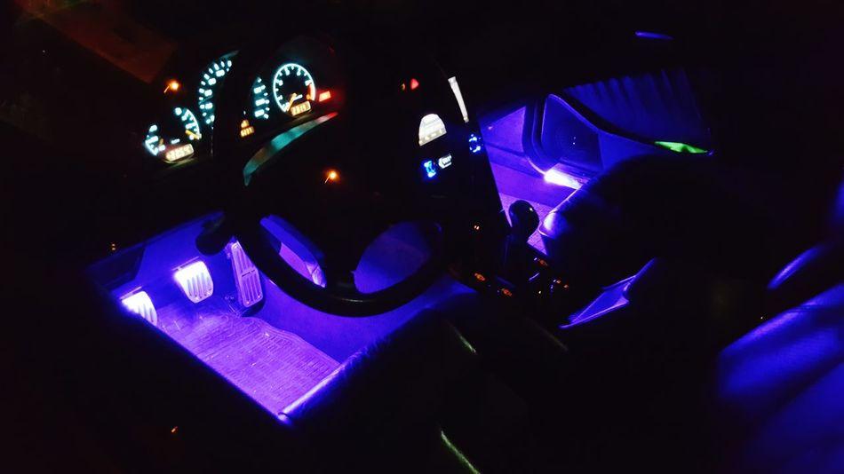 Mercedes AMG W202 LED Multicolored Lights Dark Night Illuminated Performance