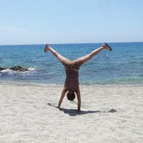 Laiya Batangas Summer2015 I had so much fun I had to do a cartwheel. :)