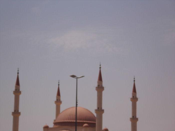 Clear Blue Sky RAJHEE MOSQUE Saudi Arabia Hail City || مدينة حايل Heights Minaret Mosque Outdoors Sky