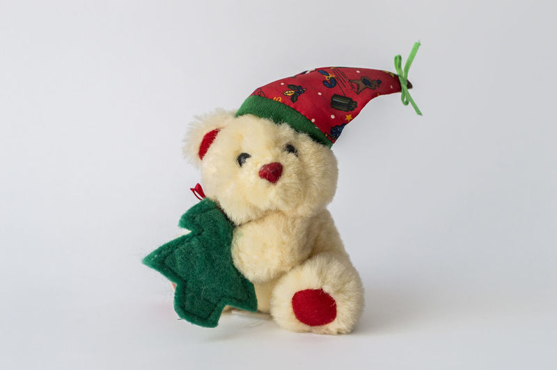 Stuffed toy against white background