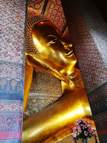 Gold Colored Spirituality Cultures Gold Bhudha Templephotography Temple In Thailand