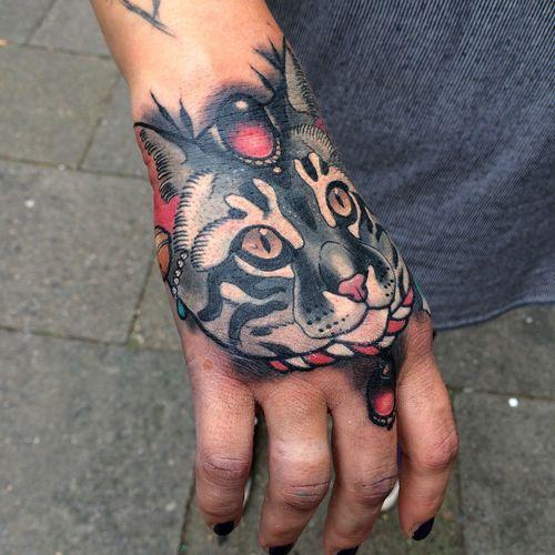 Handtattoo Coveruptattoo Cattoo Cattattoo Black Cat Tatt69