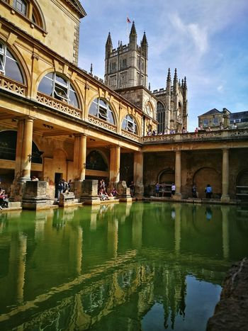 Roman Bath Travel Destinations Architecture Tourism History Day Outdoors Sky People This Week On Eyeem Pool Swimming Pool Old Buildings Ancient City Photography EyeEmbestshots Eyeemphotography EyeEm Gallery Huawei P9 Leica Huaweip9photos HuaweiP9Photography Eye4photography  Building Exterior Water