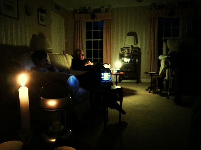 Candlelit Christmas! (power's back on now)