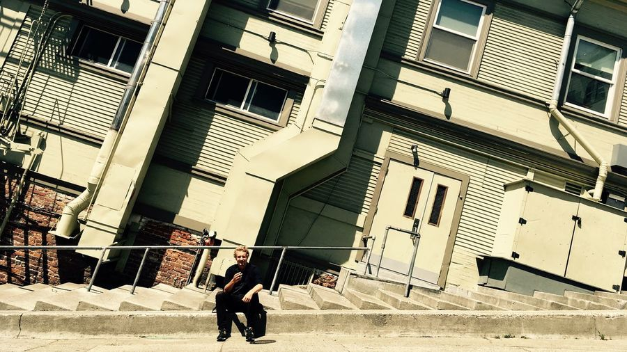 San Francisco Street Photography Street Strange Perspective Portrait Penché Leaning Leaning Street IPhone IPhone Photography