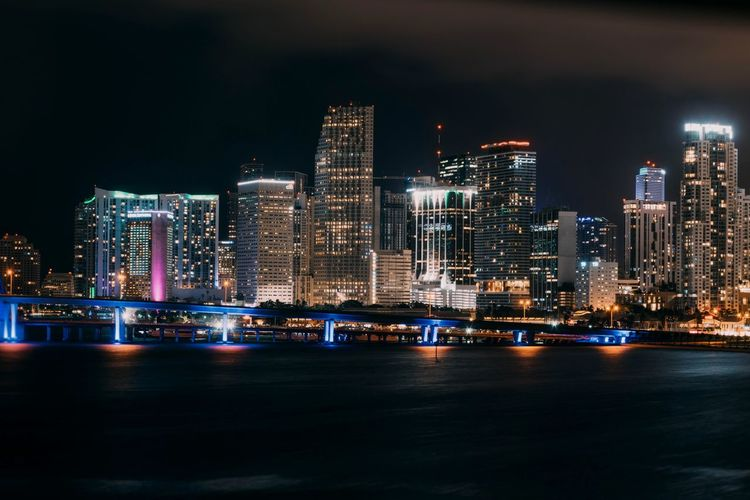 Miami Vibes Miami Miami, FL Nightphotography Night Night Lights EyeEm Selects City Cityscape Urban Skyline Illuminated Modern Skyscraper Futuristic Nightlife Business Finance And Industry Downtown District Financial District  Tower Light Painting Skyline Building Story Tourist Attraction
