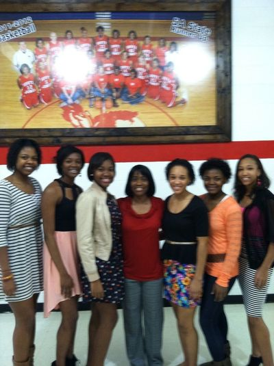 ...senior girls & coach cooley ❤(: