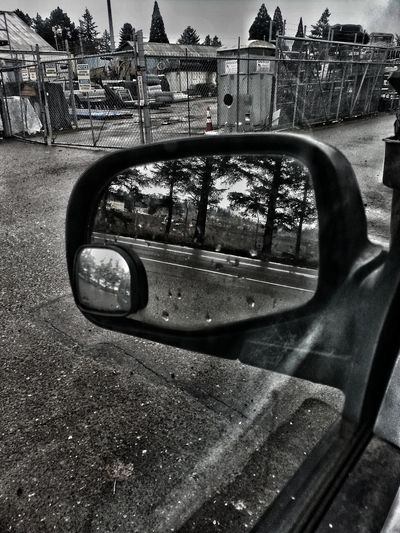 Transportation Side-view Mirror No People Vehicle Mirror Mode Of Transport Land Vehicle Tree Portland Oregon Usa