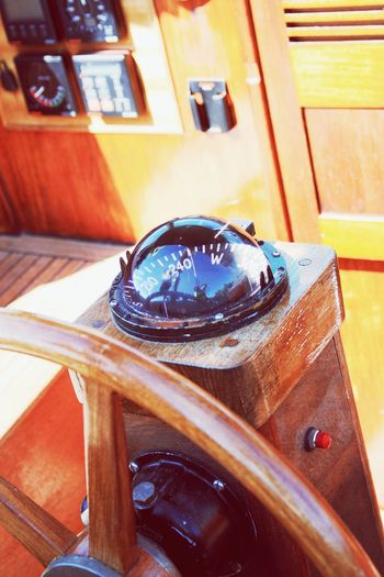 Nautical Vessel Sailboat Compass Vintage Sailing Ship Sextant Nautical Equipment Steering Wheel Boat Deck Sunlight Rigging Deck View Deck Close-up Nautical Theme Sailing Vessel Wooden Interior Yachting Sport Summer Sailing Baltic Sea Day Yacht Luxury EyeEm Selects