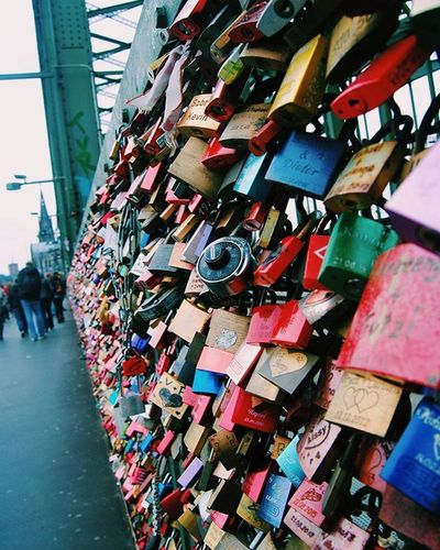 . She may have given you the key to her heart but make sure you treat her right because she can always change the lock. Tomuchlove Lovelockbridge Cologne Loveiseverywhere locks photography travel exploregermany adventures heart oneday germany