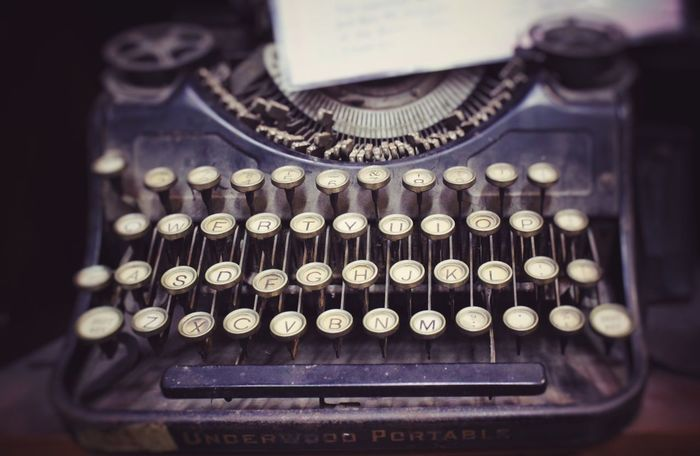 Ancient typewriter Old-fashioned Typewriter Retro Styled Antique Close-up Analog Technology Text Communication Outdated Tech Dead Things