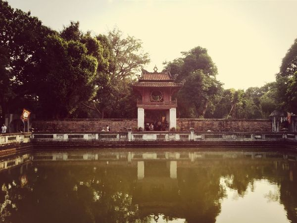 Temple Gate in Water Reflections
