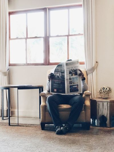 Window Light Natural Light Morning Current Affairs Chair Reading Newspaper Window Indoors  Technology Day No People Obsolete Chair Retro Styled Home Interior Table Architecture Communication