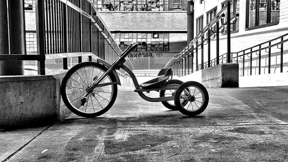 Eye Em Black & White Tricycle Kid Life Joy Fun Shapes And Lines Geometric Shapes The Street Photographer - 2016 EyeEm Awards The Great Outdoors - 2016 EyeEm Awards Geometric Reduction