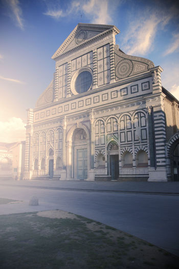 Santa Maria Novella church in Florence, Italy Santa Maria Novella Florence Italy Florence Italy Firenze Church Cathedral Renaissance Façade Travel Destinations Tuscany City Landmark No People Architecture Built Structure Building Exterior Religion Façade Place Of Worship Spirituality Building The Past