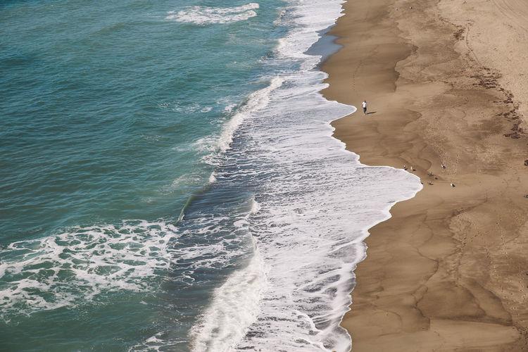 California Malibu Pacific Point Dume Aerial View Beach Ocean View From Above Waves Done That. California Dreamin