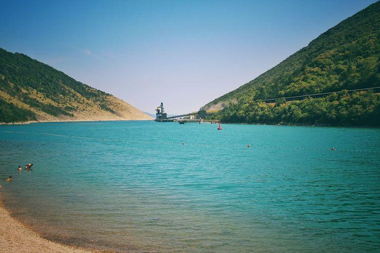Back to the sea EyeEm Selects Water Tree Nautical Vessel Mountain Sea Beauty Sky Landscape Turquoise Colored Lagoon Idyllic