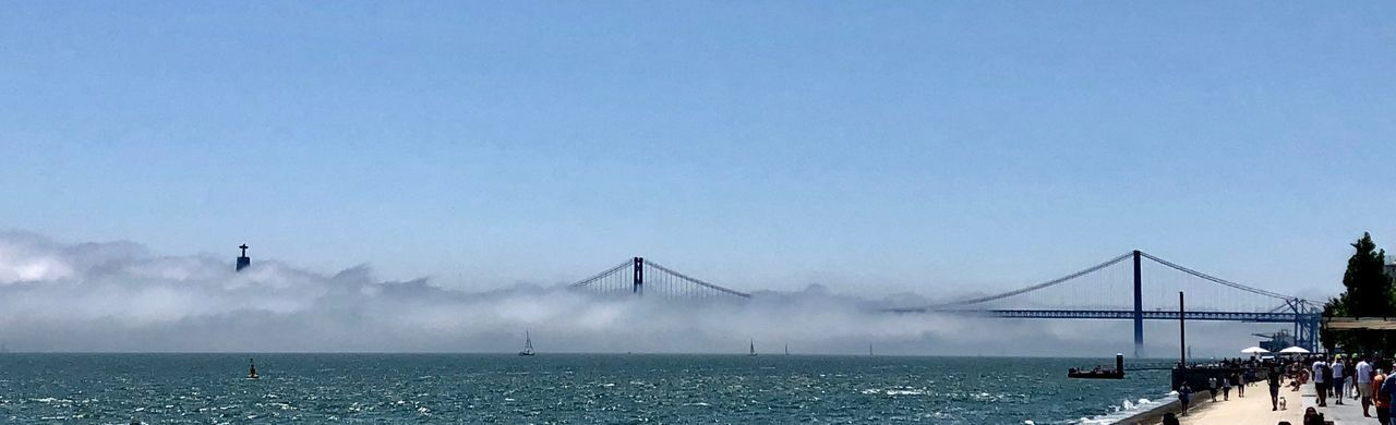 Panorama Water Sky Nature Copy Space Architecture Sea Built Structure Outdoors Day Fog Travel Bridge