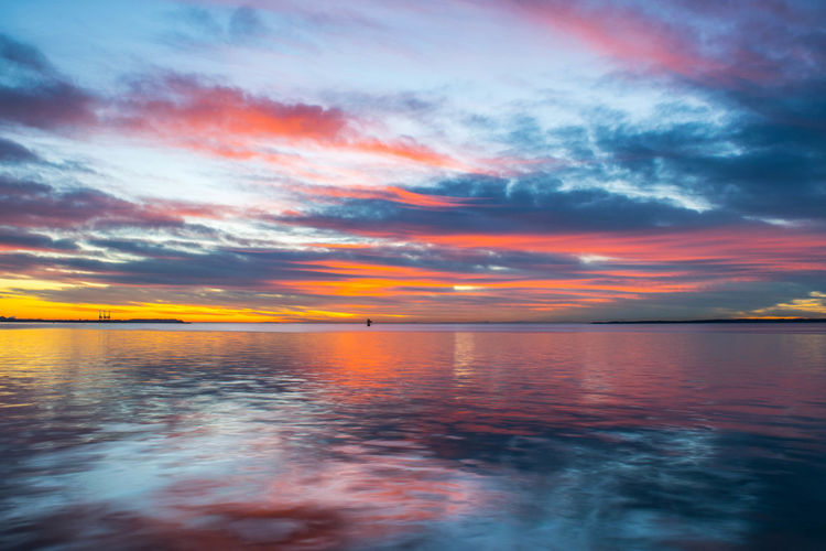Baltimore Beauty In Nature Cloud - Sky Cufotos Day Dramatic Sky Horizon Over Water Maryland Nature Nikon Nikonphotography No People Outdoors Reflection Scenics Sea Sky Sunset Tranquil Scene Tranquility Water Waterfront