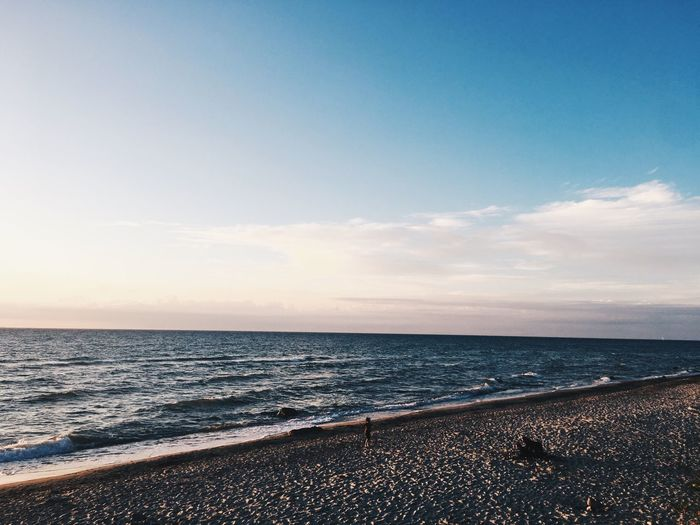Sea Beach Water Horizon Over Water Tranquility Tranquil Scene Scenics Sky No People Beauty In Nature Nature Outdoors Sand Day Sunset