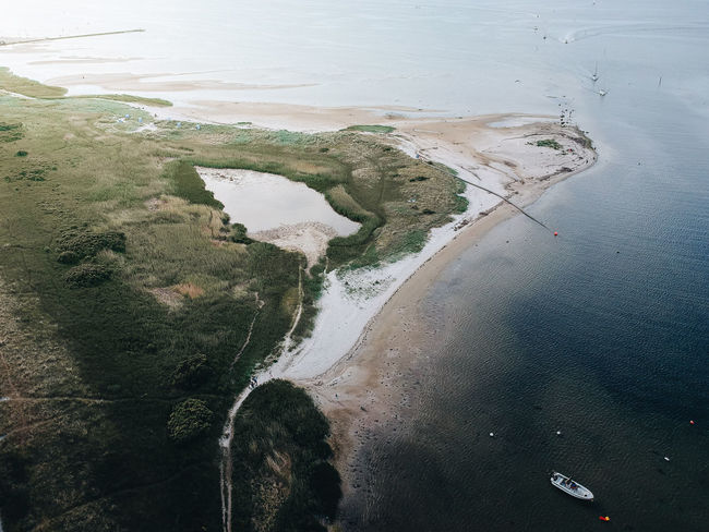 Baltic sea around the city of Kiel seen from above. Baltic Sea Schleswig-Holstein Aerial View Beach Beauty In Nature Germany High Angle View Idyllic Nature No People Non-urban Scene Sea Tranquility Water
